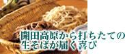 開田高原 霧しな蕎麦
